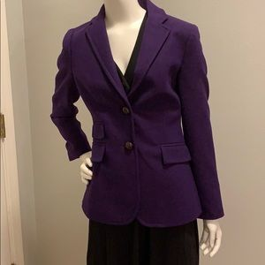 J Crew purple herringbone hacking blazer